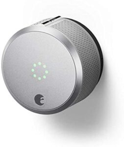 August AUG-SL-CON-S03 Silver Smart Lock Pro, 3rd Generation-Dark Gray, Apple Home Kit Compatible and Z-Wave Plus Enabled