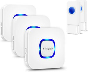 Coolqiya Wireless Doorbell Chime - No Batteries Required