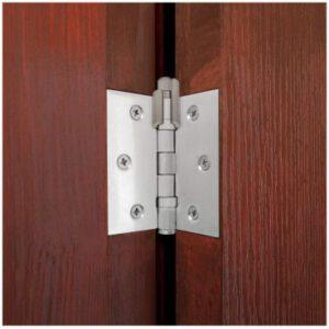 Hinge mounted doorstopper