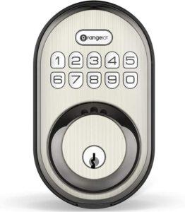 Keyless Entry Deadbolt Lock, Orangeiot Electronic Keypad Door Lock - deadbolt door lock