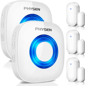 PHYSEN Wireless Door Chime Window Alarm CW-3TW Door Alarm Sensor Door Alert Kit