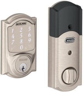 Schlage Sense Smart Deadbolt Lock With Camelot Trim