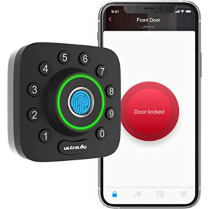 ULTRALOQ U-Bolt Pro Fingerprint Deadbolt Front Door Smart Lock Works with Bluetooth