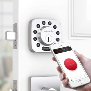 Ultraloq Bluetooth Enabled Keypad Smart Deadbolt Lock Compatible with Google Home & Alexa