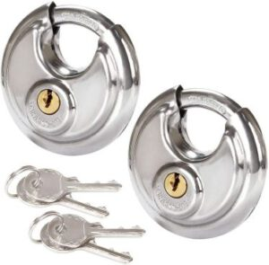 2 Pcs Discus Locks Stainless Steel Round  Padlock Heavy Duty Rustproof Disc Padlock By STARVAST