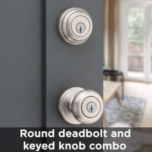Kwikset Smartkey Door Knob And Single Cylinder Deadbolt Combo Pack