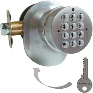 SoHoMiLL Electronic Door Knob with Backup Mechanical Key