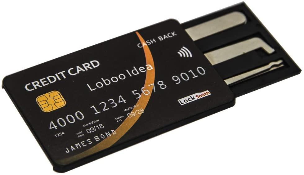 Plastic card lock pick