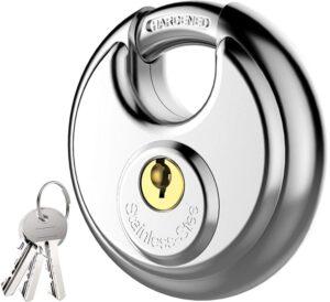 Steel Padlock, round padlock