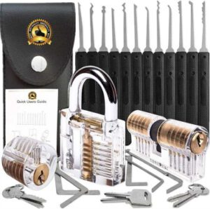 17 Pcs Professional Stainless Steel Multifunctional Pick Tool - best lock pick training set for beginners