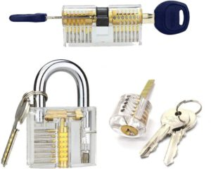 3 PCS Pad Lock Practice Training Pick set