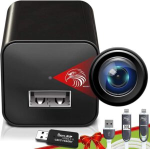 DIVINEEAGLE USB Charger Spy Camera - Hidden Mini Spy Cam Full HD- best USB charger spy camera