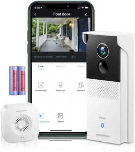 Conico Video Wifi Doorbell Camera with Chime - 1080P HD, best battery powered video doorbell