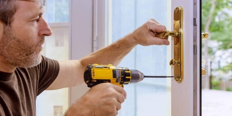 Replace front door lock and install new deadbolt