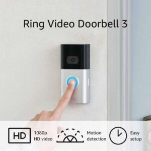 Ring Wifi Video Doorbell 3 - Works with Alexa, best ring video doorbell