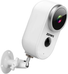 ZEEPORTE Rechargeable Battery Powered WiFi Home Surveillance OUTDOOR Security Camera - best outdoor wireless home surveillance camera