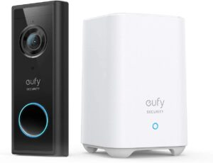 eufy Security Battery-Powered Video Doorbell Camera with Chime - 120 Days Longest Battery Life - best bullet surveillance camera