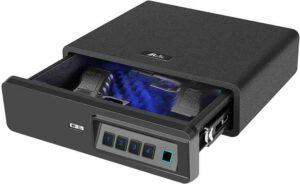 Moutec Biometric Fingerprint Handgun Safe for Home and Vehicle