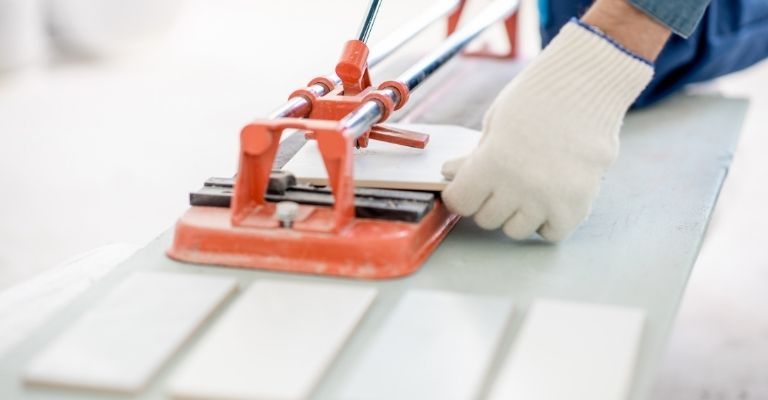 How to Cut Tile Around the Door Frame